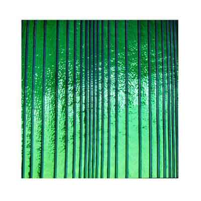 90 Emerald Dichroic on Accordian Thin Glass