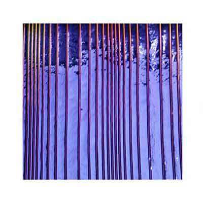 90 Purple Dichroic on Accordian Thin Glass