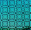 90 Pre Made Etched Pattern #035 Celtic Knots , Pink Teal Dichroic on Thin Black Glass