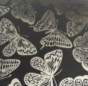 90 Pre Made Etched Pattern #160 Giant Moths, R-Silver Dichroic on Thin Clear Glass