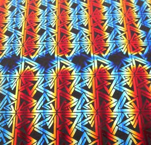 96 Pre Made Etched Pattern #062 Triangles and Squares, RBA Candy Dichroic on Thin Black Glass